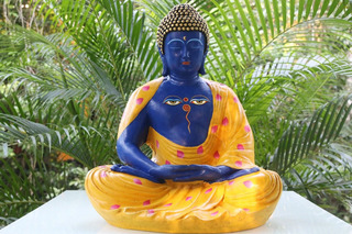 Buda Estatua Exclusiva Pintada A Mano (grande)