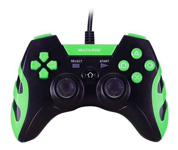 Controle Warrior P/ Ps3 Ps2 Pc Js081 Multilaser Preto/verde
