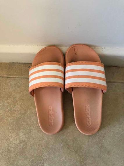 Ojotas/sandalias adidas Adilettes Color Salmón Acolchonadas