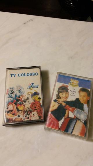Fita K7 Vintage Tv Colosso Sandy E Junior Anos 80-90