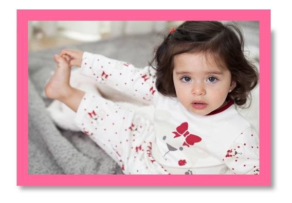 Pijama Infantil Ursinha Com Laço