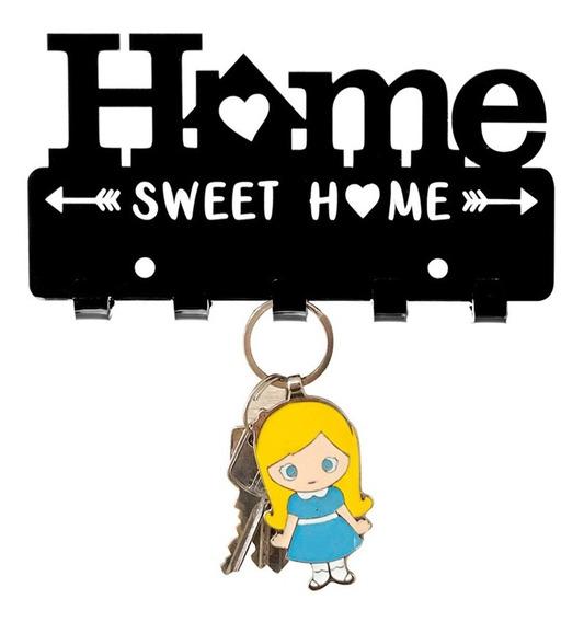 Quadro Porta Chaves Decorativo Home Sweet Home Acrílico