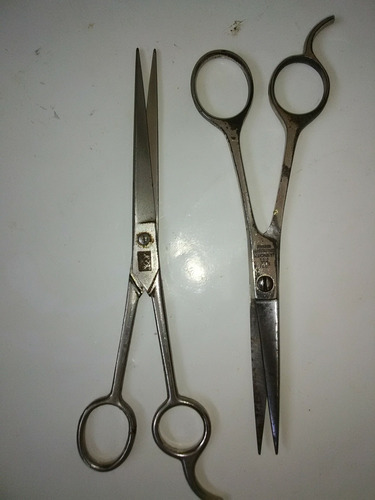 Tijeras De Barbero Peluquería Profesional De Acero Inoxidabl