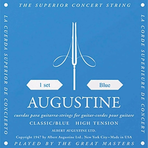 Encordoamento Violão Nylon Augustine Blue Nylon
