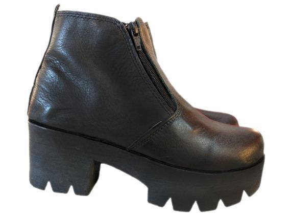Botineta Dama Mujer Niña Bota Cuero -borcego- Zapatos