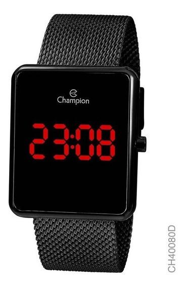 Relógio Champion Unissex Digital Ch40080d Preto Quadrado