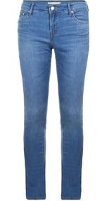Calça Jeans Levis Feminina 712 Slim Azul