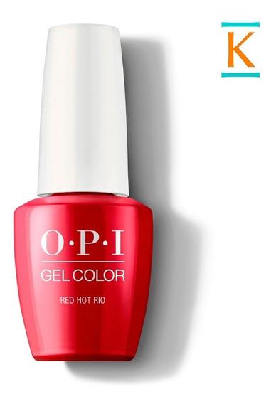 Esmalte Opi Gel Color Uv Led: Red Hot Rio 15ml