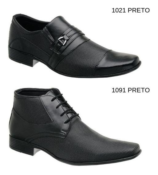 2 Pares Sapato Masculino Social + Bota Social Masculina
