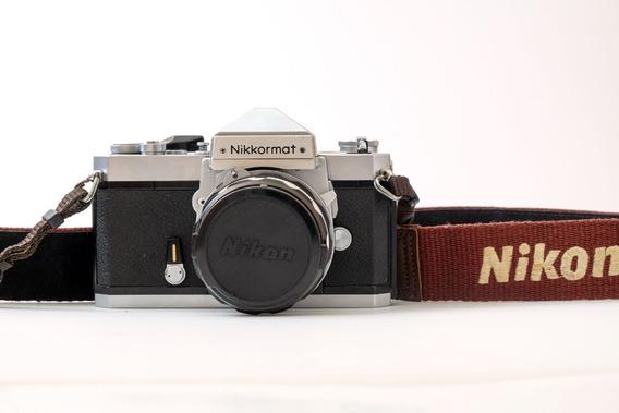 Câmera Nikkormat Ft Com Lente Nikkor Hc 50mm F/2