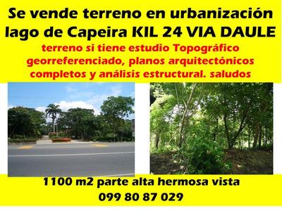 Vendo Terreno Urbanizacion Lago De Capeira 110 M2 Con Planos