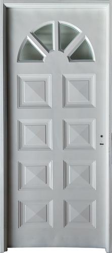 Puerta Exterior Chapa Simple 80 Medio Sol