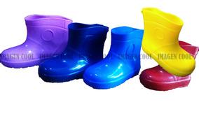 Botita Lluvia Niño Niña Kinder Escolar Colores Jardin Agua