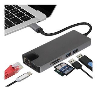 Adaptador Usb C Hub Mac Macbook Air Pro Memoria Hdmi 8 En 1