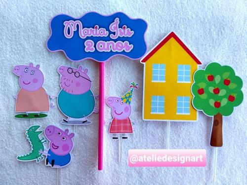 Topo De Bolo Peppa Pig Mercado Livre