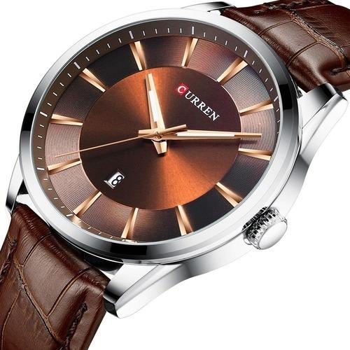 Relógio Masculino Curren Importado Modelo 8365 Marrom