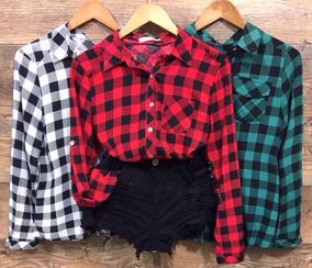 dc795bf4fd Camisa Xadrez Tumblr - Calçados, Roupas e Bolsas com o Melhores ...