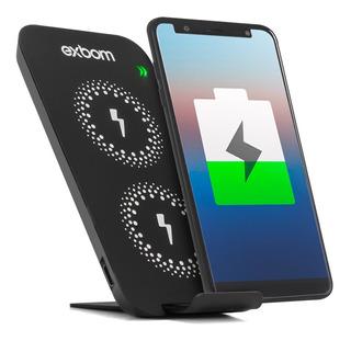 Carregador Sem Fio Wireless Indução Sensor Duplo Fast Charge