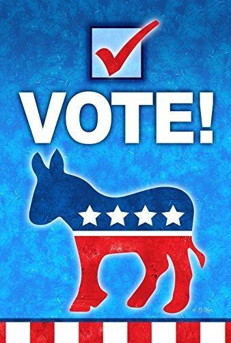 Toland Home Garden 1110763 Votar Politico Democratademocrata