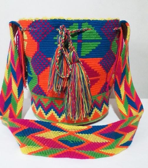 Mochila Wayuu Con Diseño Exclusivo Tumundowayuu