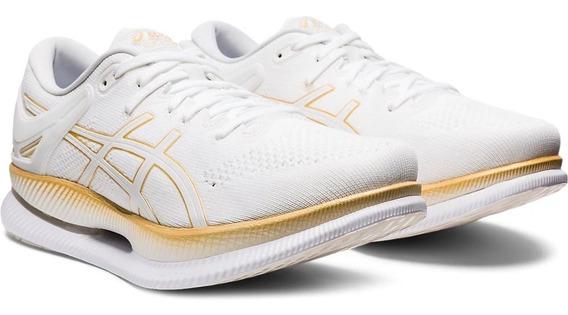 Tênis Asics Metaride Branco Com Dourado