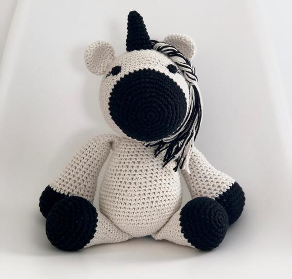 Unicornio Amigurumi 34 Cms Tejido Crochet Apego Bebes