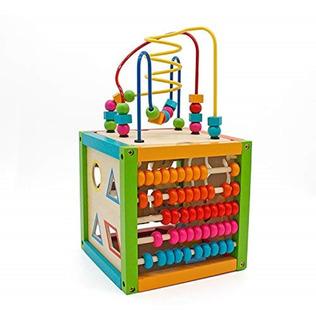 Cubo De Madera Didáctico 5 En 1 Montessori