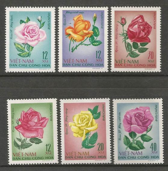 Viet Nam Estampillas Tema Rosas