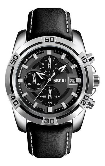 Relógio Skmei 9156 C/ Caixa Cronógrafo Preto