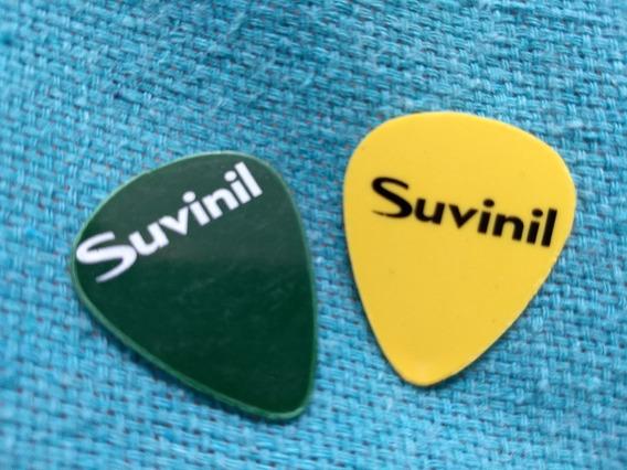 Par Palhetas Guitarra Violão Suvinil Tinta Verde Amarelo