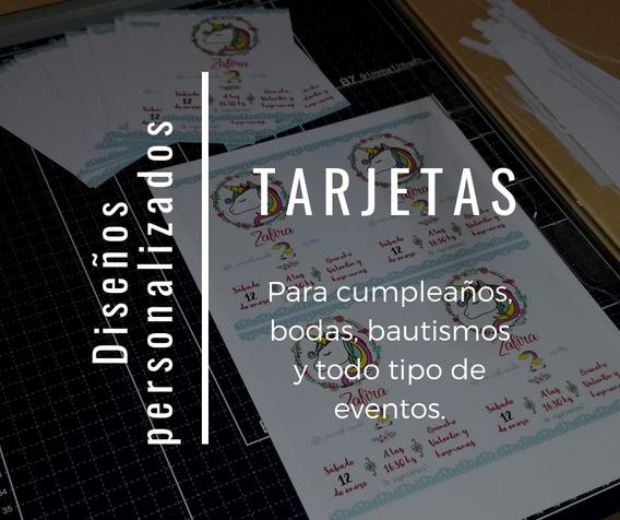 Tarjeta Invitación Cumpleaños, Bautismo, 15 Años, Bodas X 50