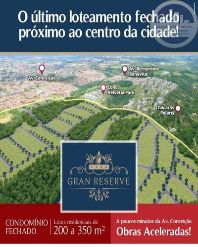Terreno Com 215,98m2, Em Um Dos Ultimos Condominios Fechados Dentro Da Cidade De Indaituba, O Park Gran Reserve - Te00009 - 67632919