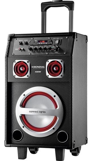 Caixa De Som Amplificada Mondial 100w Eletronic Cm-04-bivolt