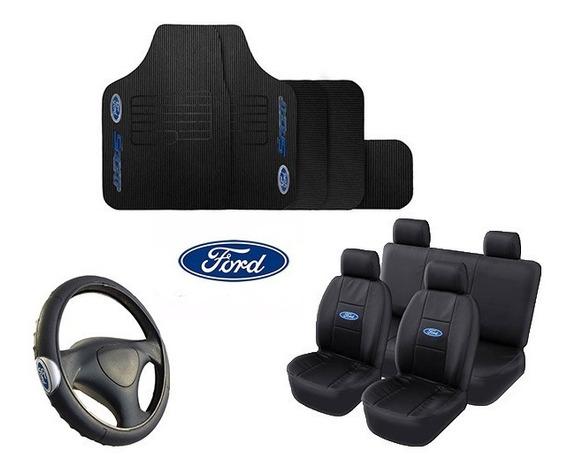 Kit Capa Banco + Tapete + Volante Fiesta Ecosport Fusion Ka