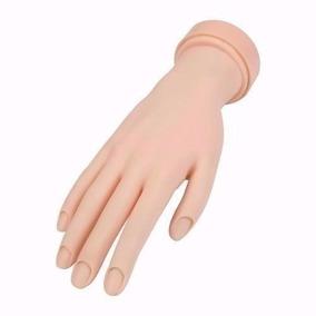 Mão Treino Manicure Unha Gel Acrigel Natural Porcelana Fibra