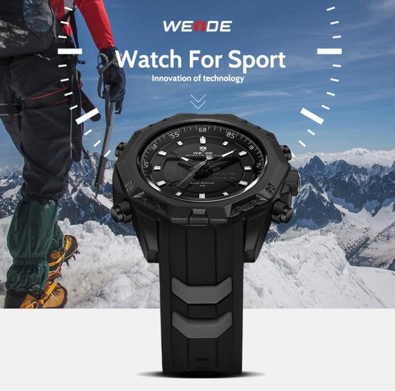 Relógio Masculino Weide Sport Watch Preto Borracha Promoção