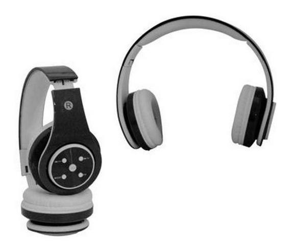Fone De Ouvido Bluetooth Sd Mp3 Fm Knup Branco E Preto