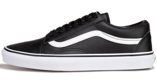 Tenis Vans Old Skool Originales Blanco Negro Piel Classic Fu