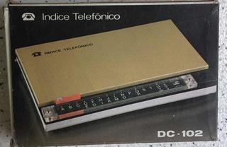 Índice Telefônico Dc-102 Na Caixa - Raro