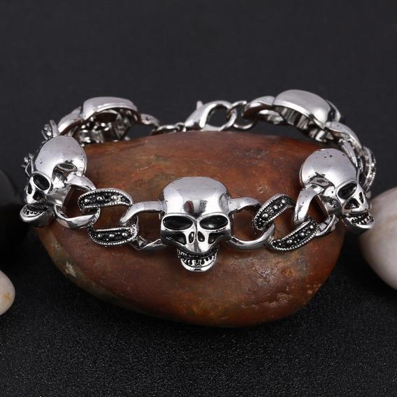 Bracelete Pulseira Crânio
