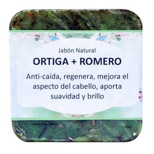 Jabon Capilar Anti Caida Y Anti Caspa Ortiga+ Romero Natural