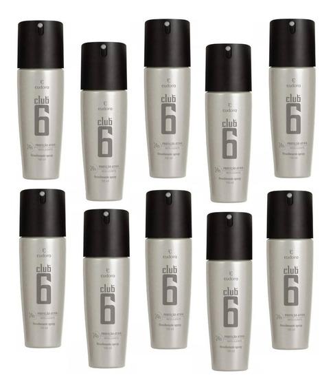 Club 6 10desodorantes 24 Hrs De Proteção 95ml-eudora