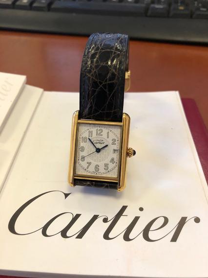 Must De Cartier - Dourado - Com Certificado - Lindo