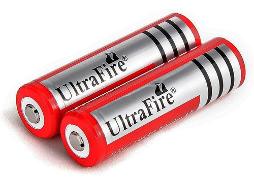 Imagen 1 de 4 de Pack X2 Unidades Bateria Pila 18650 Ultrafire 4200 3.7v