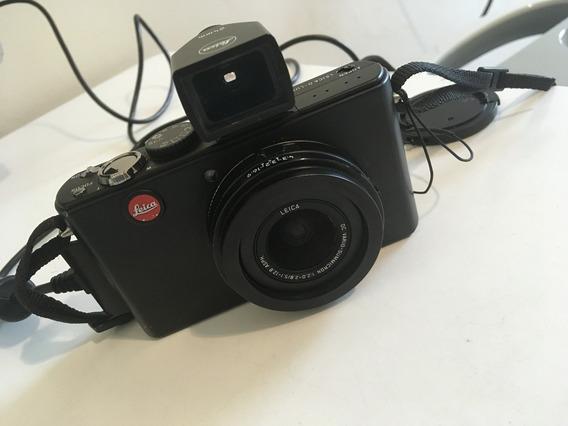 Câmera Leica D-lux 4 Completa Com Case De Couro E Viewfinder