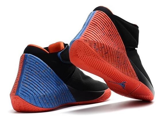 Tenis Jordan Why Not Zer 0.1 Negro C/naranja,azul # 6 Al 7.5