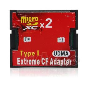 Adaptador Micro Sd X Cf - Duplo - Compact Flash Tipo 1