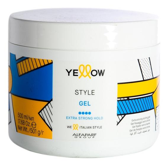Yellow Style Gel Pelo Fijacion Extra Fuerte X 500 Ml