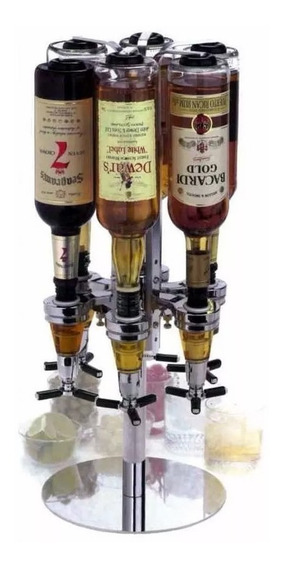 Dispenser Con Base Calesita Giratorio 6 Botellas Bar Butler
