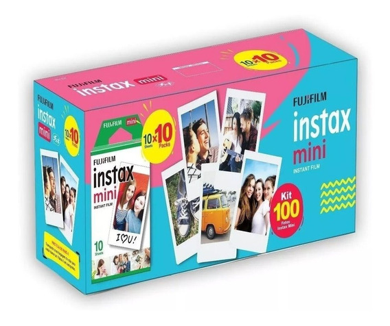 Filme Instax Mini Pack Com 100 Poses